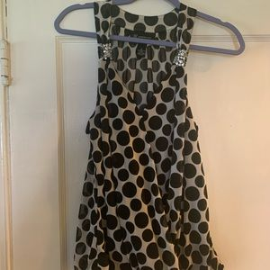 Jeweled Polka Dot INC open front tank
